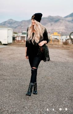 All Black Everything by @Cara Loren on Fashion Indie