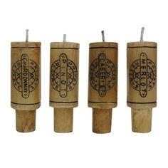 Wine Cork Candle (Set of 4)