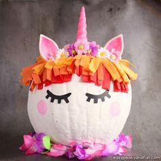 Unicorn Pumpkin Painting Idea