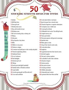 50 Stocking Stuffer Ideas For Teens