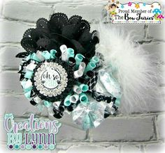 Oh So Fab Funky Loopy Hair Bow. Available at https://www.facebook.com/pg/TheBowfairies/photos/?tab=album&album_id=10154687745283920