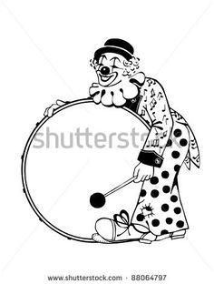 art deco clown coloring pages - photo#10