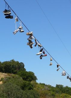 Shoes on Telephone Lines and Wires...sadly, now it isn't just for fun, now it means something