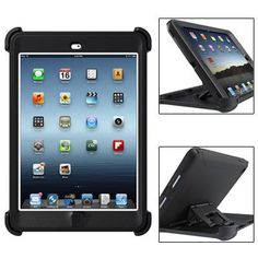 For+iPad+Mini+1/2/3+Black+Defender+Series+Protective+Case+with+Stand