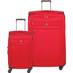 Carry-on Luggage Collections | Delsey Luggage Helium Sky 20 21 Carry on and 29 Spin Lug Red >>> Click image to review more details. Note:It is Affiliate Link to Amazon.