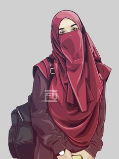 The scarf is an essential bit within the garments of females together with hijab. Cartoon Pics, Girl Cartoon, Cartoon Art, Caricature, Vector Character, Cover Wattpad, Portrait Vector, Hijab Drawing, Muslim Hijab