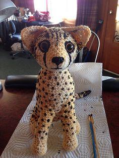 Ravelry: Cat: Sitting, free crochet pattern by Roswitha Mueller, #haken, gratis patroon (Engels), amigurumi, kat, zittend, knuffel, speelgoed, haakpatroon
