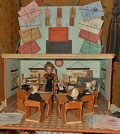 Rare French Single Room Schoolhouse - WhenDreamsComeTrue #dollshopsunited