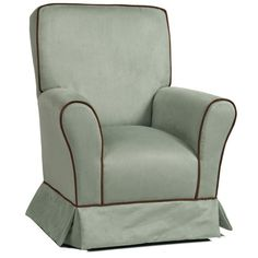 Capri Kids Seafoam and Cafe Micro-suede Childs Chair from PoshTots