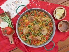 Paella, Cheeseburger Chowder, Chicken, Ethnic Recipes, Food, Fine Dining, Essen, Meals, Yemek