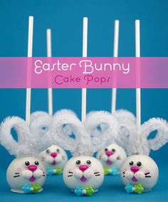 unbelievable cuteness. easter bunny cakepops from @bakerella