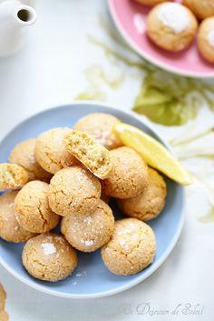 Amaretti au citron blancs d oeufs limoncello poudre d amandes zestes