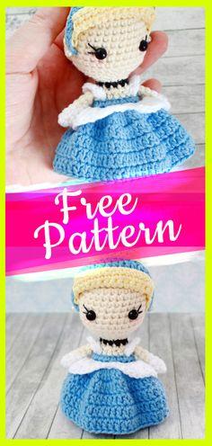 Cinderella Princess Toy Crochet Pattern #cinderellacrochet