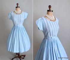Vintage 1950s dress.  #vintage #1950s #dress