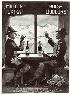 6 x Original-Werbung/ Anzeigen 1907 : MÜLLER EXTRA SEKT / BOLS LIQUEURE | eBay