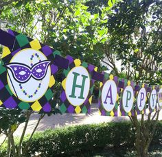Mardi Gras Banner  Mardi Gras Soiree Collection by ThatPartyChick, $12.00