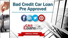 guaranteed auto approval Loans For Bad Credit, Car Finance, Car Loans, Free Quotes, How To Get