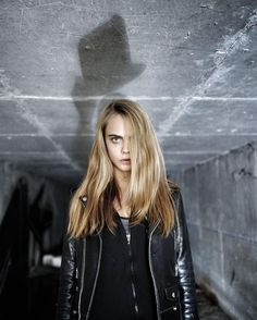 Cara Delevingne in Paris photographed by JR
