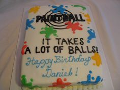 Zachary is having a paintball birthday... I hope I can make this cake for him!!!