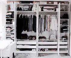 This closet is goals.  #goals #tumblr #closetgoals #blackandwhite #clothes #shoes #want #closet