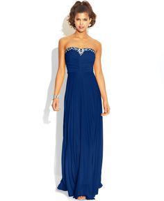 B Darlin Juniors' Pleated Jewel-Trim Dress - Juniors Shop All Prom Dresses - Macy's $100