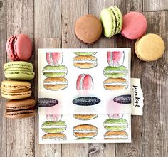 November 9th, July 10, April 10, Macarons, Different Colors, In This Moment, French, Stamps, Creative
