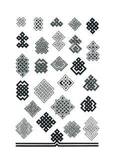 12 орнаментов. Анализ монгольских орнаментов - И в этот берег дикий стучит волною Тихий, ужасно тихий океан