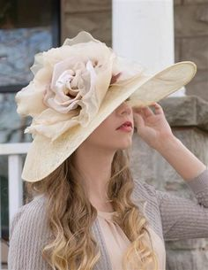Ladies Tea Party Hats- Edwardian Hats Louise Green Crowning Bloom Millinery  Kentucky Derby Outfit d5e075e20800