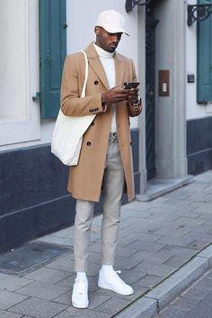 Moda Streetwear, Streetwear Fashion, Casual Look For Men, Black Men Casual Style, Mens Style Winter, Style For Men, Men Casual Styles, Casual Man, Smart Casual Men