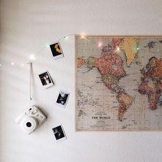 ✨ decoração com fotos e pisca-pisca/luzes