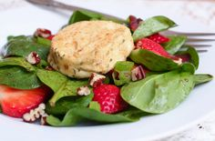 spinach strawberry salad with baked goat cheese by kokocooks, via Flickr