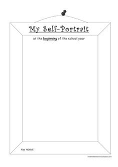 self portrait template for preschool | Click on the pictures below to download the templates.
