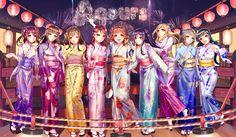 Anime - Love Live! Sunshine!! Yoshiko Tsushima Dia Kurosawa Ruby Kurosawa Mari Ohara Kanan Matsuura You Watanabe Hanamaru Kunikida Riko Sakurauchi Chika Takami Anime Wallpaper