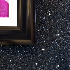Glitter Wallpaper - Sparkle - Shades of Silver and Black Glitter wallcovering