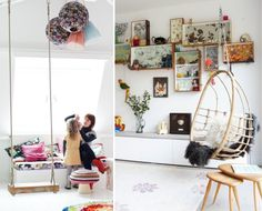 Hanging rattan chair « Babyccino Kids: Daily tips, Children's products, Craft ideas, Recipes  More