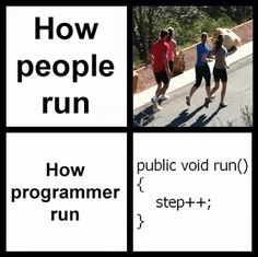 Geek Humor | How Programmers Run! | From Funny Technology - Google+ via Peter Angerani