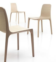 """""""Frida"""" wooden chair by Pedrali: awarded the 22nd Compasso d'Oro Rome 2011 for pure sculptural beauty!"""
