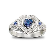 True Heart Tanzanite And Diamond Heart Shaped Ring: Romantic Jewelry Gift For Her