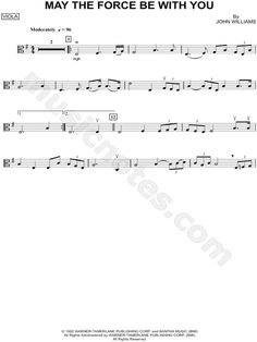 May the Force Be With You - Viola sheet music from Star Wars