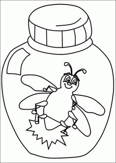 L is for lightning bug! [coloring page]