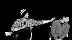 Prior to getting married to their wives, they lived together. | Jensen Ackles And Jared Padalecki's Epic Bromance. This is my favorite gif ever.