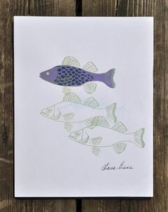 This item is unavailable Silk Screen Printing, Black Spot, Line Drawing, My Etsy Shop, Fish, Purple, Drawings, Check, Green