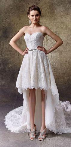 Pretty Short Wedding Dress For Summer
