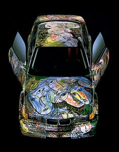 BMW Art Car #13; Sandro Chia; 1992 [plan]