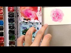 Loose Watercolor Rose Tutorial (better version) - YouTube