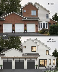 Brick House Exterior Discover 20 Painted Brick Houses to Inspire You in 2020 House Paint Exterior, Exterior House Colors, Exterior Design, Exterior Homes, Diy Exterior Brick, Exterior Paint Ideas, Outdoor House Colors, Outdoor House Paint, Modern House Colors