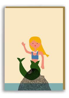 Anna Kövecses - Mermaid Greetings Card