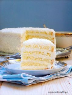 Sponge Cake, Rainbow Colors, Vanilla Cake, Coconut, Sweets, Blog, Baking, Eat, Birthday Cakes