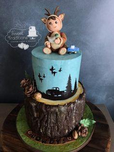 Ducks, Trucks and Lil' Bucks baby shower cake Baby Shower Duck, Baby Shower Purple, Baby Shower Cakes, Duck Cake, Crazy Cakes, Camden, Custom Cakes, Cake Cookies, Ducks