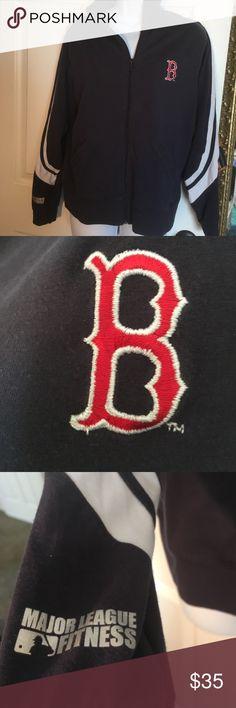 Major League Fitness jacket Red Sox fans ...heres a light weight zip up jacket Major Leage Fitness Jackets & Coats